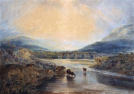 Abergavenny Bridge, Monmouthshire: Clearing Up After a Showery Day, undated by J. M. W. Turner | Giclée Paper Print