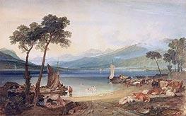 Lake Geneva and Mont Blanc, c.1802/05 by J. M. W. Turner | Giclée Paper Print