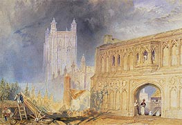 J. M. W. Turner | Malvern Abbey and Gate, Worcestershire, c.1830 | Giclée Paper Print