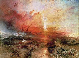 J. M. W. Turner | Slave Ship (Slavers Throwing Overboard the Dead and Dying, Typhoon Coming On), 1840 | Giclée Canvas Print