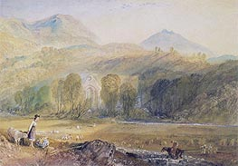 Valle Crucis Abbey, Denbighshire, c.1826 by J. M. W. Turner | Giclée Paper Print