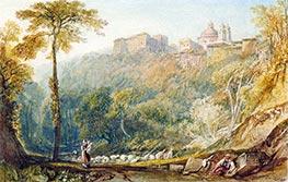 View of La Riccia (Ariccia), 1817 by J. M. W. Turner | Giclée Paper Print