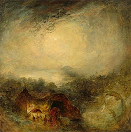 The Evening of the Deluge, c.1843 by J. M. W. Turner | Giclée Canvas Print