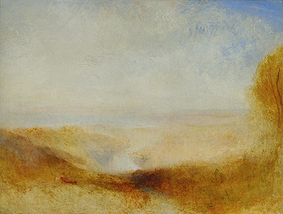 Landscape with River and a Bay in the far Background, c.1835 | J. M. W. Turner | Painting Reproduction