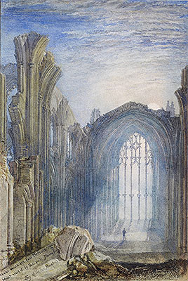 Melrose Abbey: Moonlight, 1822 | J. M. W. Turner | Painting Reproduction