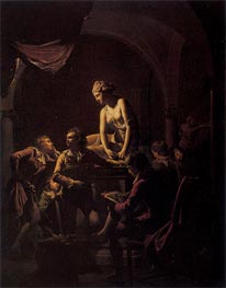 Wright of Derby   An Academy by Lamplight, 1769   Giclée Canvas Print