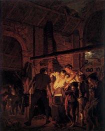 Wright of Derby   A Blacksmith's Shop, 1771   Giclée Canvas Print