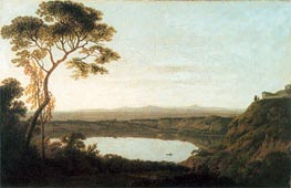 Wright of Derby   Lake Albano, c.1790/92   Giclée Canvas Print