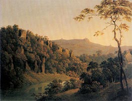 Wright of Derby   View in Matlock Dale looking South to Black Rock Escarpment, c.1780/85   Giclée Canvas Print