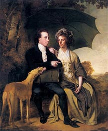 Wright of Derby   Portrait of Rev. Thomas Gisborne and his Wife Mary, 1786   Giclée Canvas Print