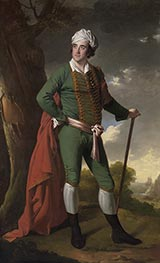 Portrait of a Man, Known as the Indian Captain, c.1767 by Wright of Derby | Giclée Canvas Print