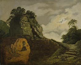 Wright of Derby   Virgil's Tomb by Moonlight, with Silius Italicus, 1779   Giclée Canvas Print