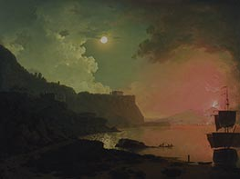 Wright of Derby   Vesuvius from Posillipo, c.1788   Giclée Canvas Print