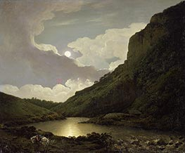 Wright of Derby   Matlock Tor by Moonlight, c.1777/80   Giclée Canvas Print
