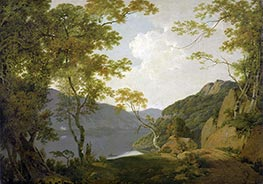 Wright of Derby   Lake Scene, 1790   Giclée Canvas Print