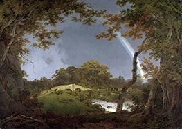 Wright of Derby   Landscape with a Rainbow, c.1793/94   Giclée Canvas Print