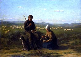 Jozef Israels | The Shepherd's Prayer, 1864 | Giclée Canvas Print