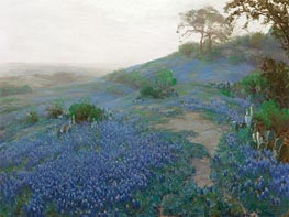 Blue Bonnet Field, Early Morning, San Antonio, Texas, 1914 by Julian Onderdonk | Giclée Canvas Print