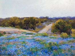 Bluebonnets at Late Afternoon, 1917 by Julian Onderdonk | Giclée Canvas Print