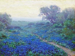Bluebonnets at Sunrise, 1917 by Julian Onderdonk | Giclée Canvas Print