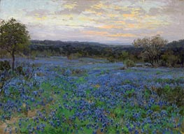 Field of Bluebonnets at Sunset, undated by Julian Onderdonk | Giclée Canvas Print