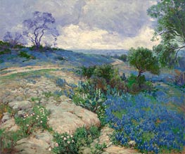 Julian Onderdonk | Texas Landscape with Bluebonnets, undated | Giclée Canvas Print