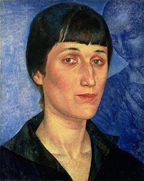 Kuzma Petrov-Vodkin | Portrait of Anna Akhmatova, 1922 | Giclée Canvas Print