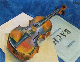 Kuzma Petrov-Vodkin | Still Life with a Violin, 1921 | Giclée Canvas Print