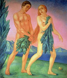 The Expulsion from Paradise, 1911 by Kuzma Petrov-Vodkin | Giclée Canvas Print
