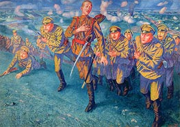 Kuzma Petrov-Vodkin | In the Firing Line, 1916 | Giclée Canvas Print