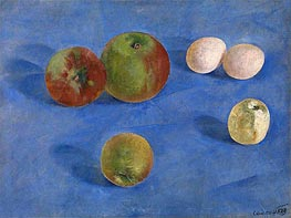 Kuzma Petrov-Vodkin | Still Life, Apples and Eggs, 1921 | Giclée Canvas Print
