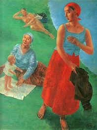 Kuzma Petrov-Vodkin | First Steps, 1925 | Giclée Canvas Print