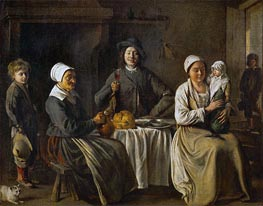 Le Nain Brothers | Peasant Family (The Return from the Baptism), 1642 | Giclée Canvas Print