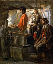 Le Nain Brothers | The Forge | Giclée Canvas Print