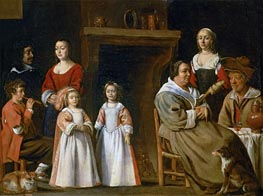Portraits in an Interior, 1647 by Le Nain Brothers | Giclée Canvas Print