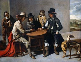 Le Nain Brothers | Dice Players (The Gamblers), c.1630/80 | Giclée Canvas Print