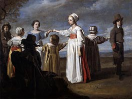 Le Nain Brothers | Children Dancing, c.1650 | Giclée Canvas Print