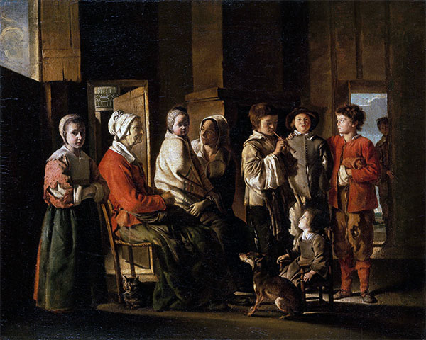 Visit to Grandmother, c.1645/48 | Le Nain Brothers | Painting Reproduction