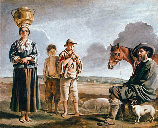 The Resting Horseman, b.1640 | Le Nain Brothers | Painting Reproduction