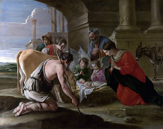 The Adoration of the Shepherds, c.1640 | Le Nain Brothers | Painting Reproduction