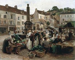 Leon-Augustin Lhermitte | The Market at Chateau-Thierry, 1879 | Giclée Canvas Print