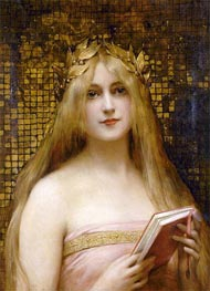 Leon Comerre | Girl with a Golden Wreath | Giclée Canvas Print