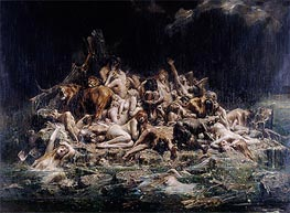 Leon Comerre | The Deluge, undated | Giclée Canvas Print