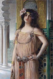 Leon Comerre | A Bejeweled Harem Beauty, undated | Giclée Canvas Print