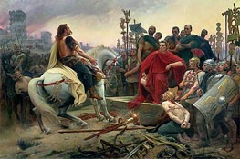 Lionel Royer | Vercingetorix Throws down his Arms at the Feet of Julius Caesar, 1899 | Giclée Canvas Print