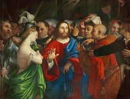 Lorenzo Lotto | The Woman Taken in Adultery, c.1527/29 | Giclée Canvas Print