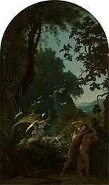 Adam and Eve Driven from Paradise, 1877 by Louis Français | Giclée Canvas Print