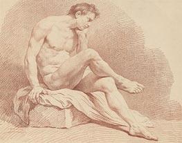 Lagrenee | Seated Male Nude | Giclée Canvas Print