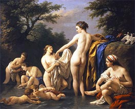 Lagrenee | Venus and Nymphs Bathing, 1776 | Giclée Canvas Print