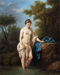 Lagrenee | Young Lady at Bath, 1776 | Giclée Canvas Print